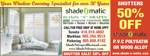 Custom window covering sales promotion #1.
